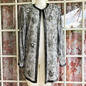 Judith Ann Gray Silk Sequined Jacket M/L